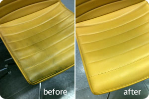 leather cleaning before & after