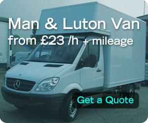 Man and Luton Van London from £23ph + mileage