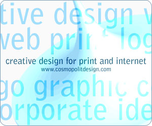 creative design for print and internet by cosmopolit studio london