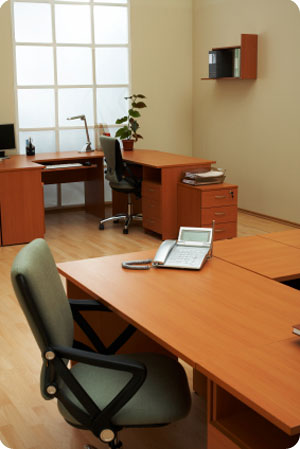 office furniture and office floor cleaning